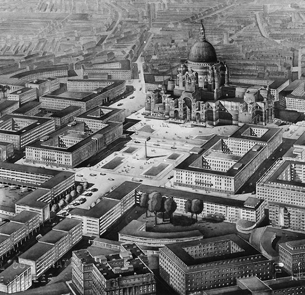 1943 – Plan for Liverpool around Lutyen's Cathedral