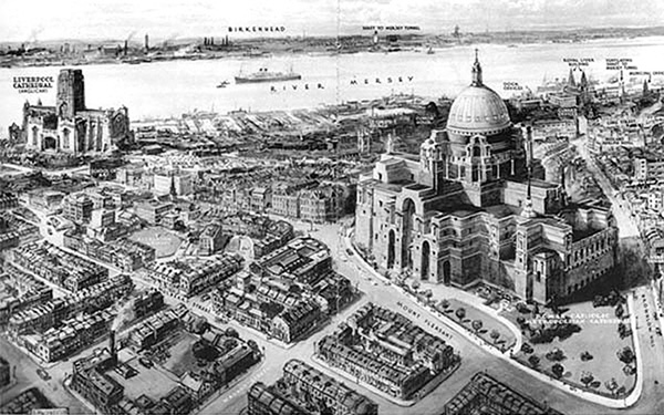 1930 – Lutyens' design for new Cathedral, Liverpool