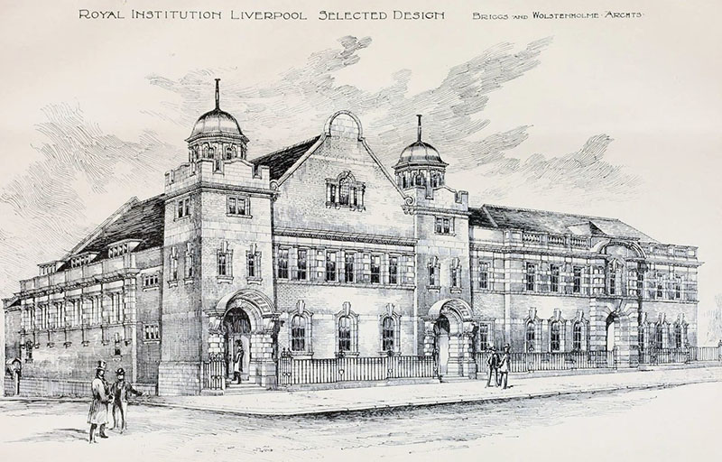 1899 – Selected Design for Royal Institution, Liverpool