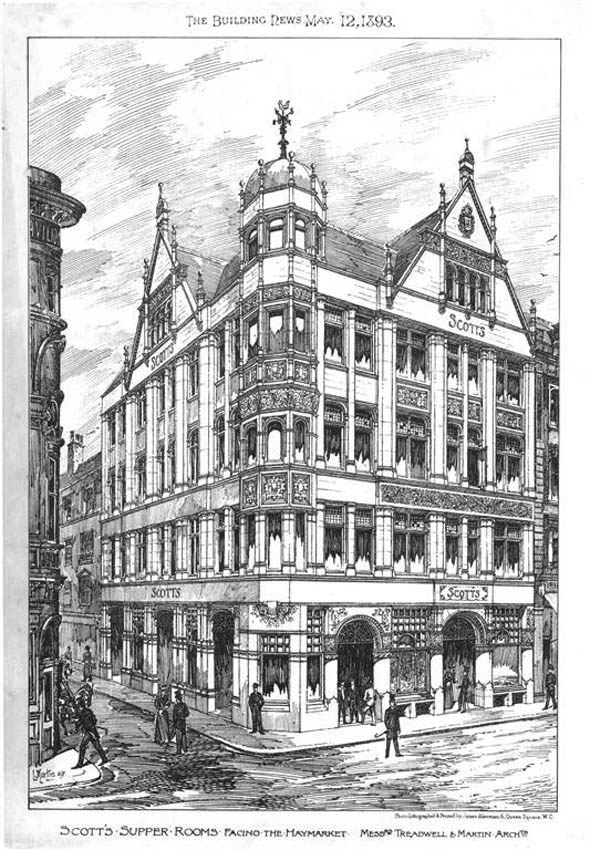 1893 – Scott's Supper Rooms, Haymarket, London