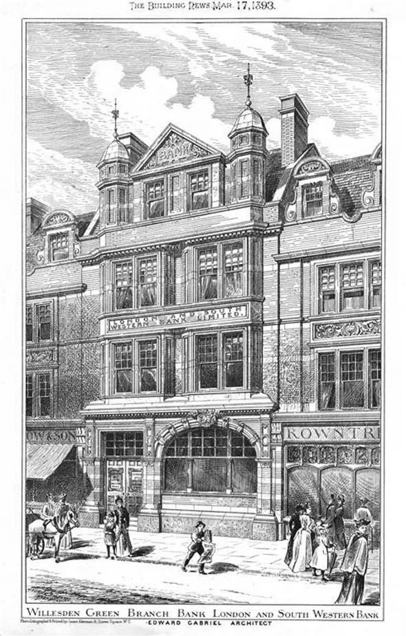 1893 – London & South Western Bank, Willesden Green, London