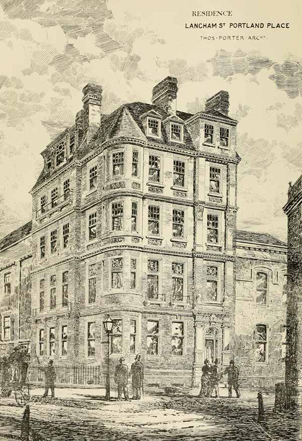 1880 – Residences, Portland Place, London