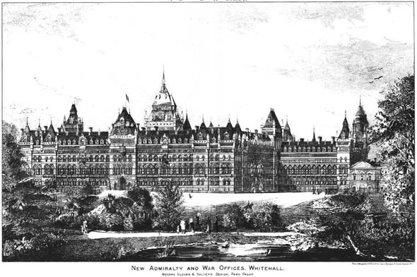 1884 – New Admiralty and War Offices, London