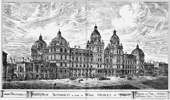 1884 &#8211; New Admiralty and War Offices, London
