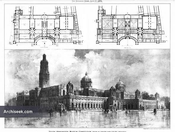 1891 – South Kensington Museum Competition, London