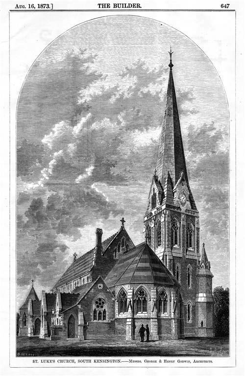 1873 &#8211; St. Luke&#8217;s Church, South Kensington, London