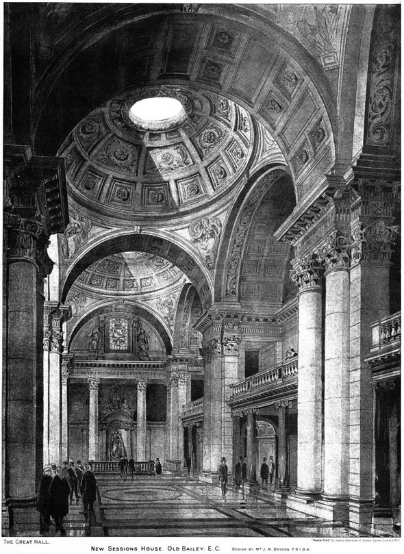 1900 – New Sessions House, Old Bailey, London