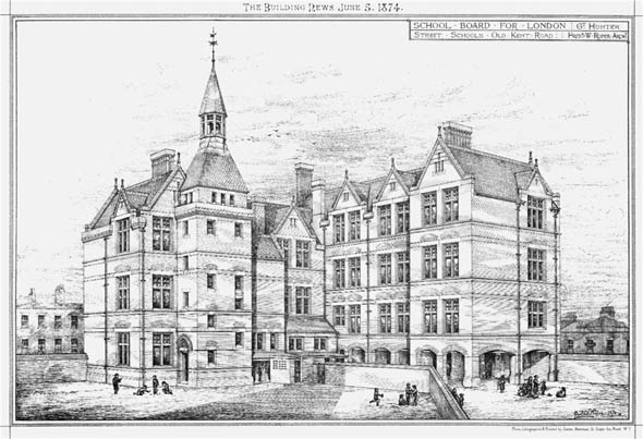 1874 &#8211; Great Hunter Street School, Old Kent Road, London