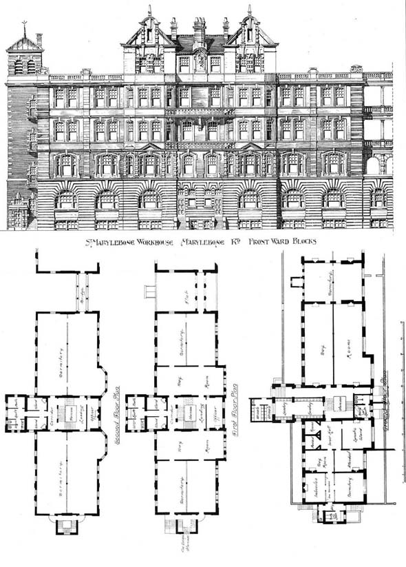 1898 &#8211; St. Marylebone Workhouse, Marylebone, London