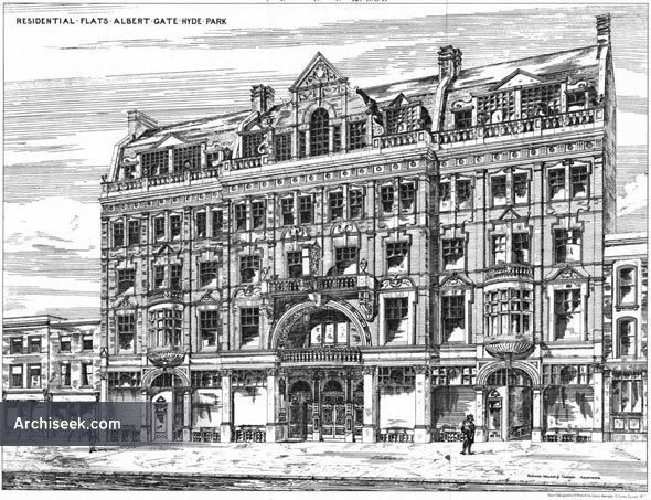1884 – Residential Flats, Albert Gate, Hyde Park, London