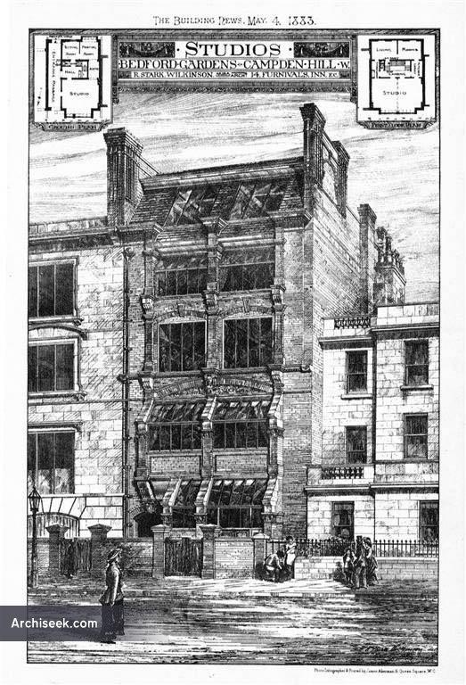 1882 – Studios, Nos 77-79 Bedford Gardens, London