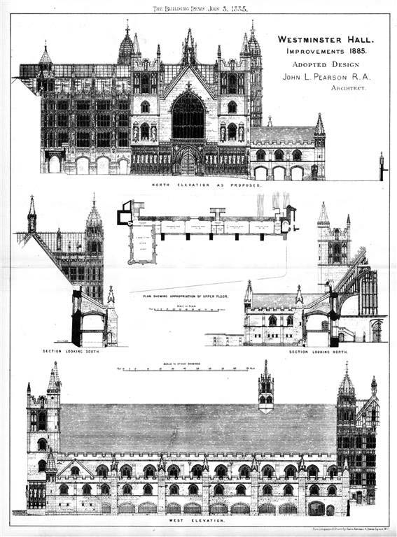 1885 – Westminster Hall New Additions, London