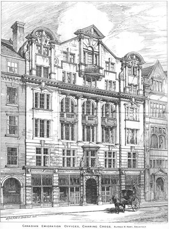 1905 – Canadian Emigration Offices, Charing Cross, London