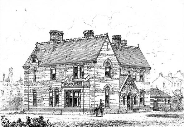 1873 – St. Luke's Parsonage House, Victoria Docks, London