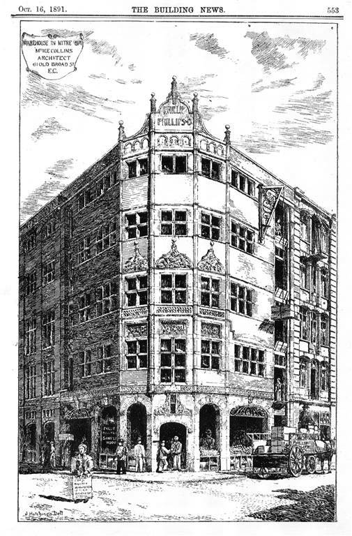 1891 – Warehouse in Mitre Street, London
