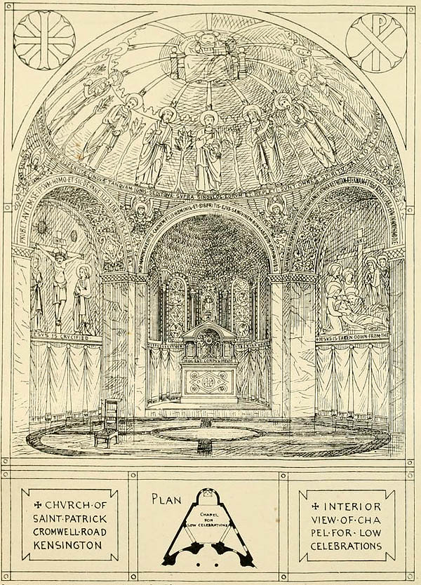 1873 &#8211; Design for Church of St. Patrick, Kenway Road, Kensington, London