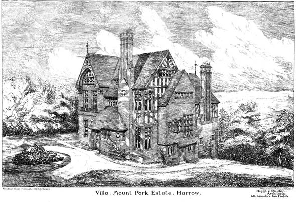 1883 – Villa at Mount Park Estate, Harrow, London