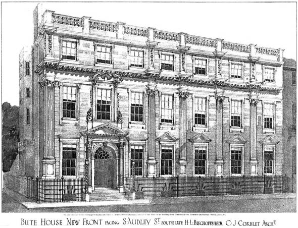 1908 – New Front, Bute House, South Audley Street, London