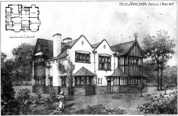 1905 &#8211; House at Wimbledon, London