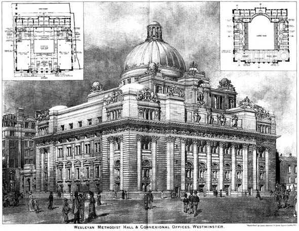 1905 – Wesleyan Methodist Hall & Connexional Offices, Westminster, London