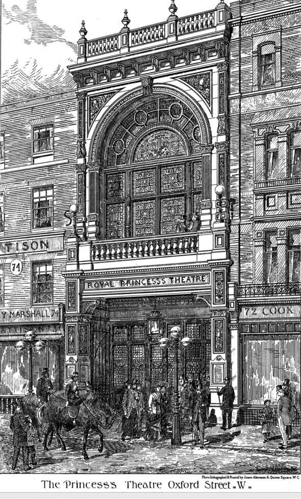 1881 – Royal Princess Theatre, Oxford Street, London