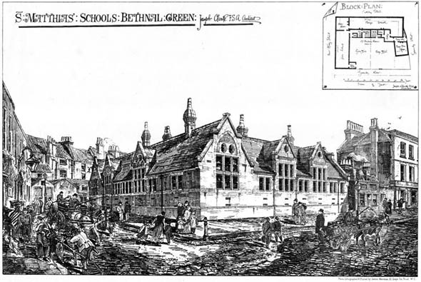 1874 – St. Matthias Schools, Bethnal Green, London