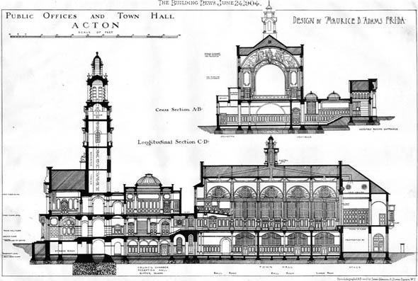 1904 – Public Offices & Town Hall, Acton, London