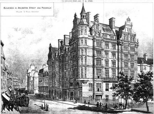 1888 – Buildings in Arlington Street & Piccadilly, London