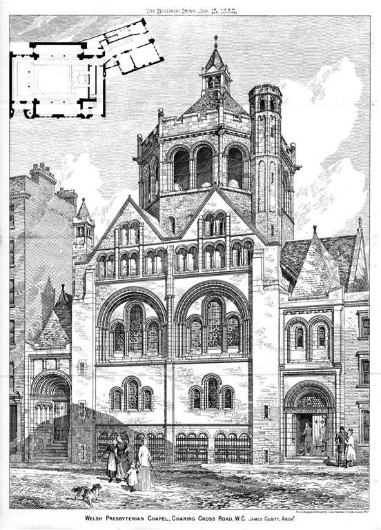 1888 – Welsh Presbyterian Chapel, Charing Cross Rd., London