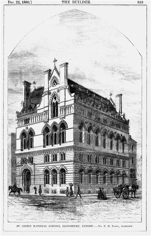1860 – St. Giles National Schools, Bloomsbury, London