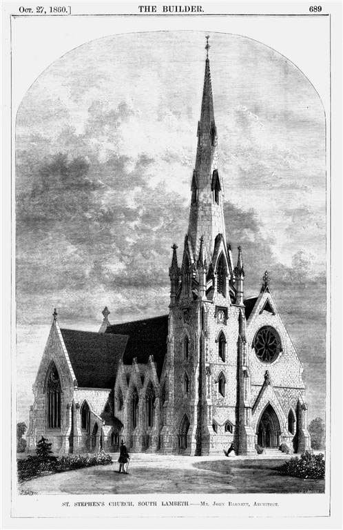 1861 &#8211; St. Stephens Church, South Lambeth, London