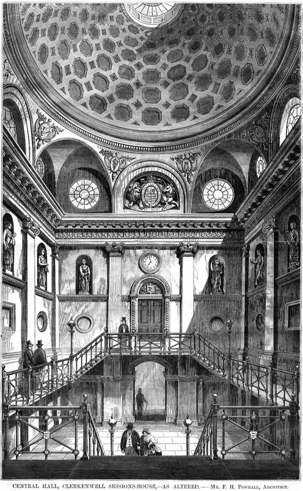 1860 – Central Hall, Clerkenwell Sessions House, London