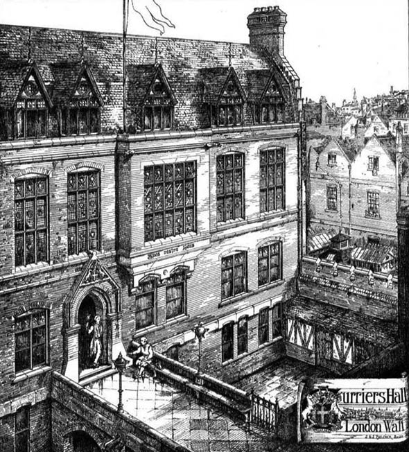 1876 &#8211; Curriers&#8217; Hall, London Wall, London