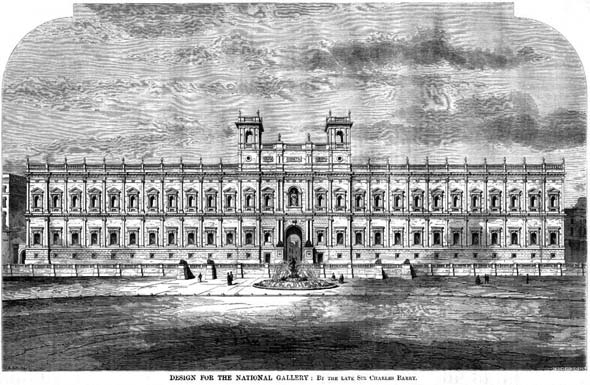 1860 &#8211; Proposal for the National Gallery, London