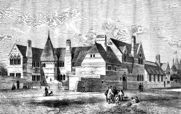 1860 – Schools of St. Mary-the-Less, Lambeth, London