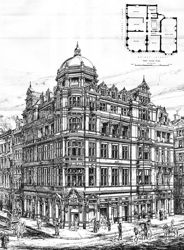 1888 – London & North Western Railway Buildings, Parliament Square, London