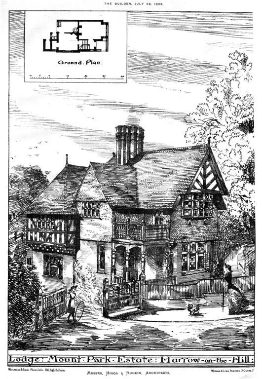 1883 – Lodge, Mount Park Estate, Harrow on the Hill, London
