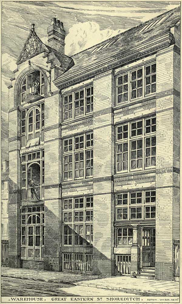 1881 – Warehouses, Great Eastern Street, Shoreditch, London