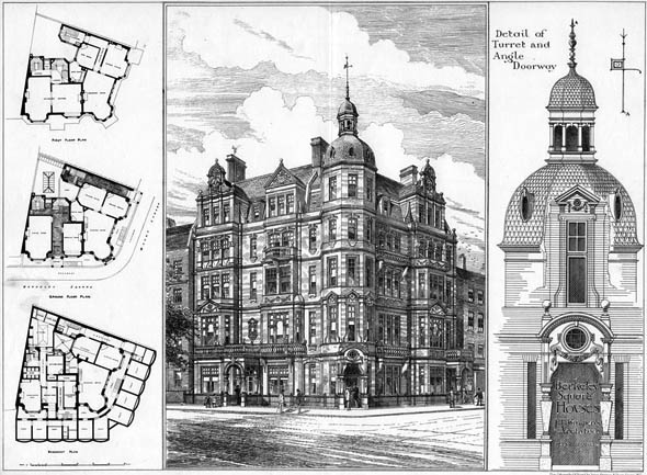 1882 &#8211; Berkeley Square Houses, London