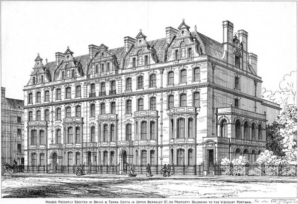 1875 &#8211; Houses, Upper Berkeley Street, London