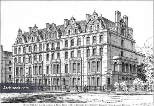 1875 – Houses, Upper Berkeley Street, London