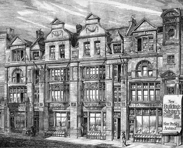1878 – Salisbury Court, Fleet Street, London