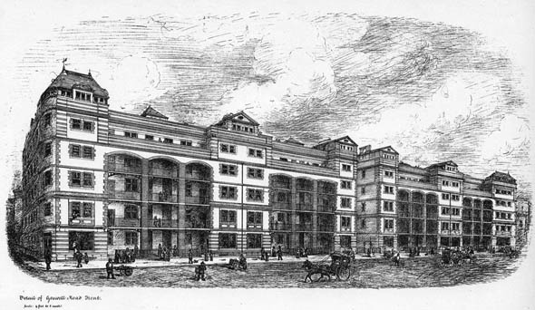 1875 &#8211; Design for Improved Industrial Dwellings, Goswell Road, London