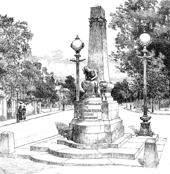 1903 &#8211; Memorial to The Late Onslow Ford, St. John&#8217;s Wood, London