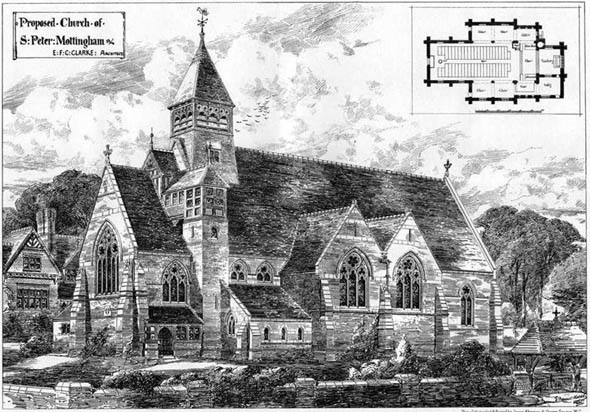 1878 &#8211; Proposed Church of St. Peter, Mottingham, London