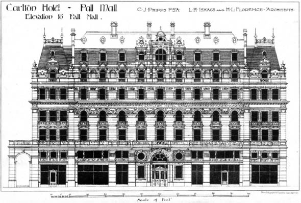 1896 &#8211; Carlton Hotel, Pall Mall, London