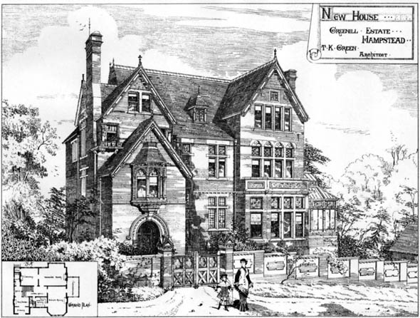 1878 &#8211; New House, Greenhill Estate, Hampstead, London