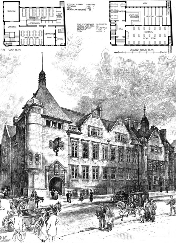 1897 &#8211; Passmore Edwards Free Library, Shoreditch, London