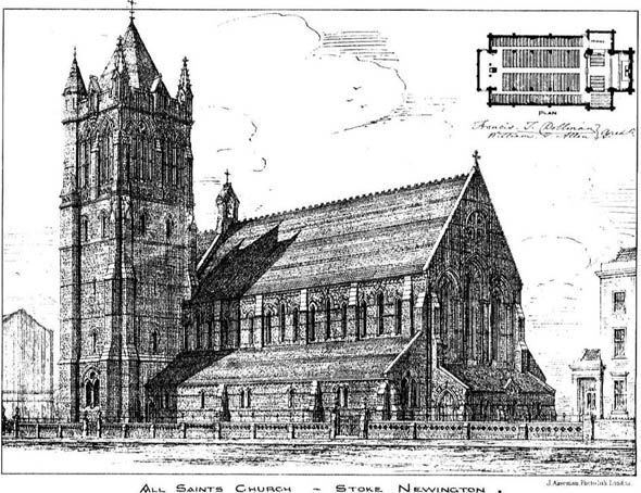 1879 – All Saints Church, Stoke Newington, London