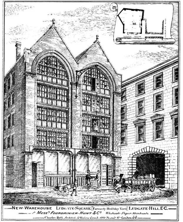 1878 &#8211; New Warehouse, Ludgate Square, London